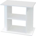 Meuble Blanc avec étagère Aquatlantis pour aquarium de 60 x 30 cm