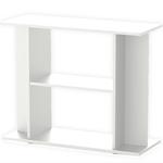 Meuble Blanc avec étagère Aquatlantis pour aquarium de 100 x 30 cm