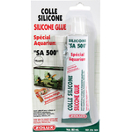 ZOLUX SA 500 Colle Silicone Transparente 80 ml pour collage d'aquarium en verre