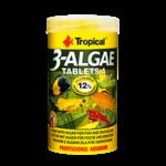 TROPICAL 3-Algae Tablets A 250 ml nourriture en tablettes riches en algues pour poissons herbivores et omnivores