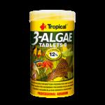 TROPICAL 3-Algae Tablets B 50 ml nourriture en tablettes riches en algues pour poissons herbivores et omnivores