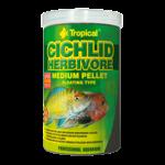 TROPICAL Cichlid Herbivore Medium Pellet 5L nourriture végétale avec Spirulina pour cichlidés herbivore de moyenne et grande taille