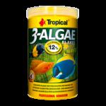 TROPICAL 3-Algae Flakes 100 ml nourriture en flocons riches en algues pour poissons herbivores et omnivores