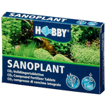 HOBBY Sanoplant 20 comprimés diffuseuses de CO2 pour aquarium de 50 à 1000 L