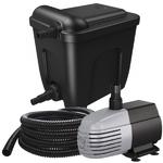 VT Eco Filter Set 12000 kit de filtration multi-chambres avec stérilisateur UV-C 18W et pompe 2500 L/h pour bassin jusqu'à 12000 L