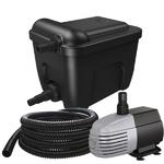 VT Eco Filter Set 6000 kit de filtration multi-chambres avec stérilisateur UV-C 9W et pompe 1500 L/h pour bassin jusqu'à 6000 L