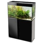 AQUAEL Glossy 80 Noir laqué Aquarium 80 cm, volume 125 L et éclairage Leds