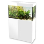 AQUAEL Glossy 80 Blanc laqué Aquarium 80 cm, volume 125 L et éclairage Leds
