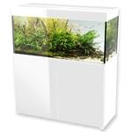 AQUAEL Glossy 120 Blanc laqué Aquarium 120 cm, volume 260 L et éclairage Leds