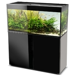 AQUAEL Glossy 120 Noir laqué Aquarium 120 cm, volume 260 L et éclairage Leds