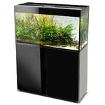 AQUAEL Glossy 100 Noir laqué Aquarium 100 cm, volume 215 L et éclairage Leds