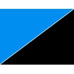 Poster d'aquarium à la coupe pour aquarium Bleu Océan ou Noir, imprimé sur deux faces. Hauteur 49,5 ou 59,5