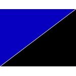 Poster d'aquarium à la coupe imprimé sur deux faces Bleu/Noir. Hauteur 50cm