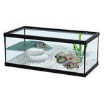 ZOLUX Aqua Tortum 40 Noir aquaterrarium pour tortues aquatiques et amphibiens. Dimensions : 40 x 20 x 18 cm