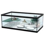 ZOLUX Aqua Tortum 55 Noir aquaterrarium pour tortues aquatiques et amphibiens. Dimensions : 55 x 30 x 20 cm
