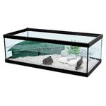ZOLUX Aqua Tortum 75 Noir aquaterrarium avec filtre pour tortues aquatiques et amphibiens. Dimensions : 75 x 36 x 25 cm