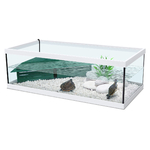 ZOLUX Aqua Tortum 75 Blanc aquaterrarium avec filtre pour tortues aquatiques et amphibiens. Dimensions : 75 x 36 x 25 cm
