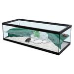 ZOLUX Aqua Tortum 100 Noir aquaterrarium avec filtre pour tortues aquatiques et amphibiens. Dimensions : 100 x 40 x 30 cm