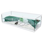 ZOLUX Aqua Tortum 100 Blanc aquaterrarium avec filtre pour tortues aquatiques et amphibiens. Dimensions : 100 x 40 x 30 cm