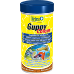 TETRA Guppy Colour 250 ml aliment complet enrichi en activateurs de couleurs pour tous les guppies