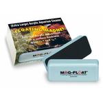 MAG FLOAT Extra Large aimant flottant professionnel pour vitre d'aquarium en acrylique de 20 à 30 mm d'épaisseur