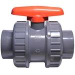 Vanne PVC à bille marque VDL pour tuyau diamètre  63 mm pour bassin, piscine,...