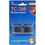 AQUATLANTIS TC-200 2x Carbon lot de 2 cartouches au charbon actif pour filtre TC200