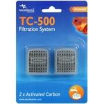 AQUATLANTIS TC-500 2x Carbon lot de 2 cartouches au charbon actif pour filtre TC500