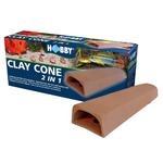 HOBBY Clay Cone 2 in 1 cône de ponte pour Discus et cachette parfaite pour poissons et crevettes d'aquarium