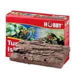 HOBBY Turtle Island 2 ile flottante imitation écorce 25,5 x 16,5 cm pour tortues d'eau et animaux amphibies