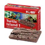 HOBBY Turtle Island 1 ile flottante imitation écorce 17,5 x 11 cm pour tortues d'eau et animaux amphibies