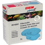 EHEIM 2616261 lot de 3 mousses bleues pour filtre Professionel 2 2026, 2126, 2028, 2128, 2226, 2228 et eXpérience 2426