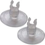 HOBBY Ventouses à clips 2 pièces pour maintenir un tuyau 4/6 mm ou un cable chauffant