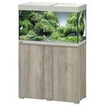EHEIM Vivaline LED 126 L ensemble aquarium 80 cm avec meuble Chêne Gris, éclairage LEDs, chauffage et filtre interne BioPower 160