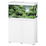 EHEIM Vivaline LED 126 L ensemble aquarium 80 cm avec meuble Blanc, éclairage LEDs, chauffage et filtre interne BioPower 160