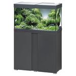 EHEIM Vivaline LED 126 L ensemble aquarium 80 cm avec meuble Anthracite, éclairage LEDs, chauffage et filtre interne BioPower 160