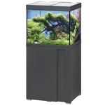EHEIM Vivaline LED 150 L ensemble aquarium 60 cm avec meuble Anthracite, éclairage LEDs, chauffage et filtre interne BioPower 200