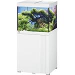 EHEIM Vivaline LED 150 L ensemble aquarium 60 cm avec meuble Blanc, éclairage LEDs, chauffage et filtre interne BioPower 200
