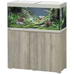 EHEIM Vivaline LED 180 L ensemble aquarium 100 cm avec meuble Chêne Gris, éclairage LEDs, chauffage et filtre interne BioPower 200