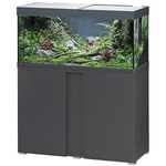 EHEIM Vivaline LED 180 L ensemble aquarium 100 cm avec meuble Anthracite, éclairage LEDs, chauffage et filtre interne BioPower 200
