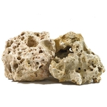AQUADECO Multi Holestone 1,8 à 2,3 Kg roche naturelle vendue à l'unité pour aquarium d'eau douce, eau de mer et terrarium