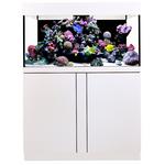 AQUA MEDIC Magnifica 100 CF Blanc kit aquarium 320L équipé eau de mer avec bac de décantation et meuble