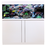 AQUA MEDIC Magnifica 130 CF Blanc kit aquarium 425L équipé eau de mer avec bac de décantation et meuble