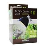 REPTILES PLANET Black Clamp 16 support complet diamètre 16 cm pour ampoule jusqu'à 200W avec douille E27