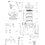EHEIM Pièces détachées pour filtre externe Eheim Professionel 3 2080 (1200 XL) et 2180 (1200 XLT)