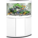aquarium-angle-juwel-trigon-190-LED-tout-equipe-blanc-avec-meuble