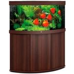 aquarium-angle-juwel-trigon-350-LED-tout-equipe-brun-avec-meuble