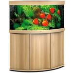 aquarium-angle-juwel-trigon-350-LED-tout-equipe-chene-clair-avec-meuble