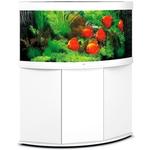 aquarium-angle-juwel-trigon-350-LED-tout-equipe-blanc-avec-meuble