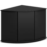 Meuble d'angle JUWEL Trigon 350 SBX pour aquarium de 87 x 87 x 123 cm 4 coloris au choix : Noir, Chêne clair, Blanc, Brun